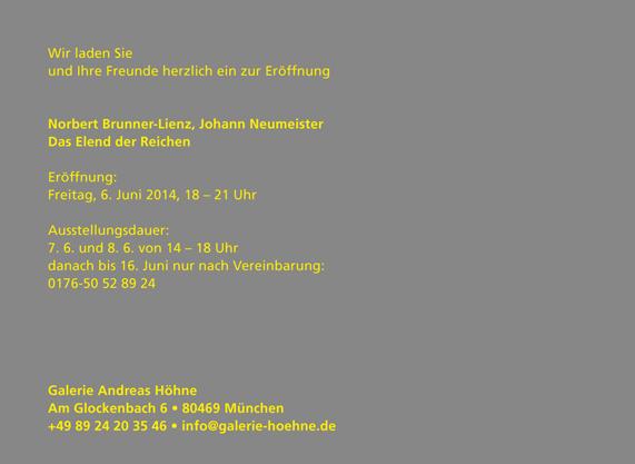 Galerie Andreas Höhne München Aktuelle Ausstellung